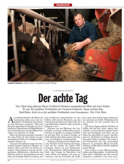 Spiegelbericht Glöckner